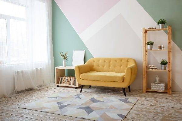 sofa de interior bonito