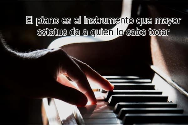 El piano es el instrumento que mayor estatus da a quien lo sabe tocar